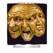 Three Faces Shower Curtain