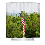 Three Flags And Kennesaw Mountain Shower Curtain
