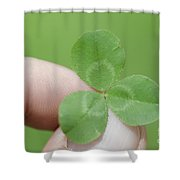 Three Leaf Clover In A Hand Shower Curtain