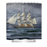 Three Masted Ship Shower Curtain