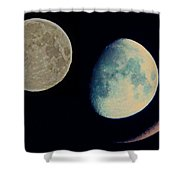 Three Moon Shower Curtain