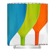 Three Of Cups Shower Curtain