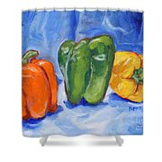 Three Peppers Shower Curtain