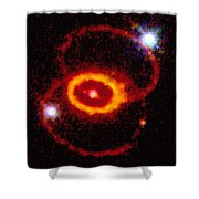 Three Rings Of Glowing Gas - Supernova Shower Curtain