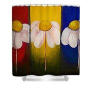 Three Times A Daisy Shower Curtain