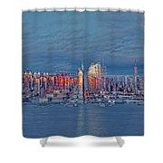 Three Times New York City Shower Curtain