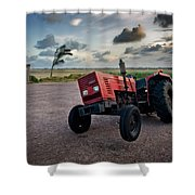 Three Wheeled Tractor Shower Curtain