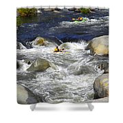 Through The Giant Boulders Shower Curtain