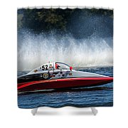 Thunder At The Lake Shower Curtain