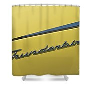 Thunderbird Emblem Shower Curtain