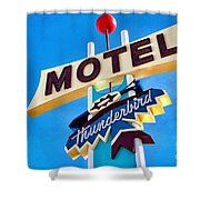Thunderbird Motel Sign Shower Curtain