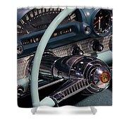 Thunderbird Steering Wheel Shower Curtain