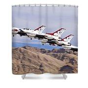 Thunderbirds Gear Up Shower Curtain