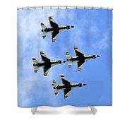 Thunderbirds In Flight Shower Curtain