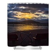 Thunderstorms At Sunrise Shower Curtain