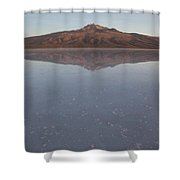 Thunupa Volcano Refelcted On The Salar Shower Curtain