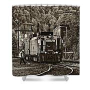 Thurmond Wv Train Sepia Shower Curtain