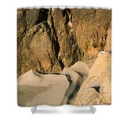 Tide Sculpture Shower Curtain