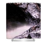 Tides In Sunset Shower Curtain