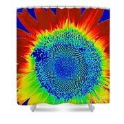 tiedyed Sunflower Shower Curtain