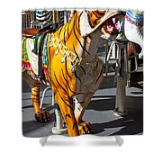 Tiger Carousel Ride Shower Curtain