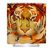 Tiger Illustration Shower Curtain