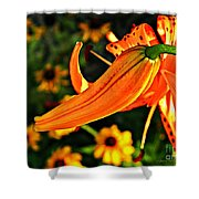 Tiger Lily Bud And Bloom Shower Curtain
