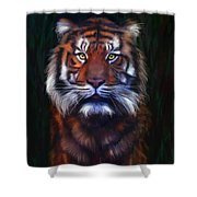 Tiger Tiger Shower Curtain