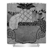 Tiled Fruit Shower Curtain