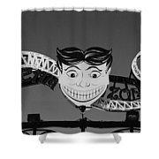 Tillie's Scream Zone In Black And White Shower Curtain