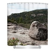 Tilted Rock Shower Curtain