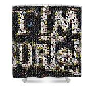 Tim Burton Poster Collection Mosaic Shower Curtain