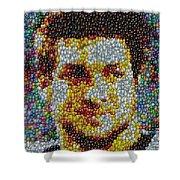Tim Tebow Mms Mosaic Shower Curtain by Paul Van Scott