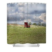 Time Alone Shower Curtain