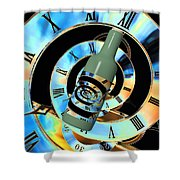 Time In A Bottle Shower Curtain