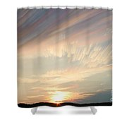 Time-lapse Clouds At Sunset Shower Curtain