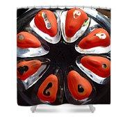 Orange And Black Art -time - Sharon Cummings Shower Curtain