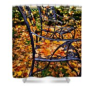 Time To Rake Shower Curtain by David Patterson