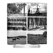 Timeless Brabant Collage - Black And White Shower Curtain