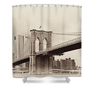 Timeless-brooklyn Bridge Shower Curtain