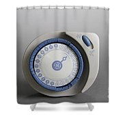 Timer Shower Curtain