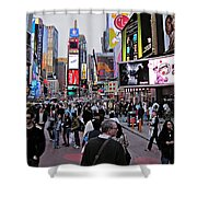 Times Square New York Shower Curtain