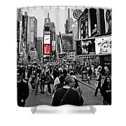 Times Square New York Toc Shower Curtain