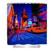 Times Square Nitelife Shower Curtain