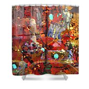 Times Square Reflections Shower Curtain