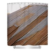 Rusted Patchwork Shower Curtain