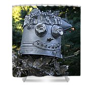 Tinman Scarecrow Shower Curtain