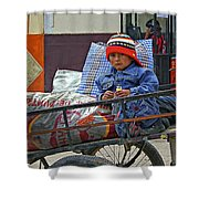 Tiny Biker 2 Shower Curtain