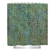Tiny Bluetone Diamonds Shower Curtain