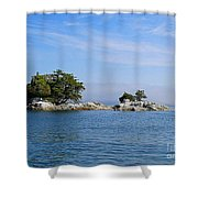 Tiny Island Off Vancouver Island Shower Curtain